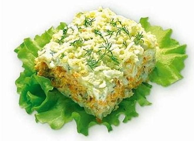 Рецепт салат мимоза из рыбной