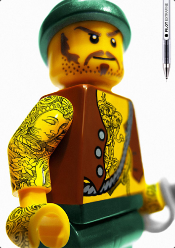 ЛЕГОман тату (Legoman Tattoo)