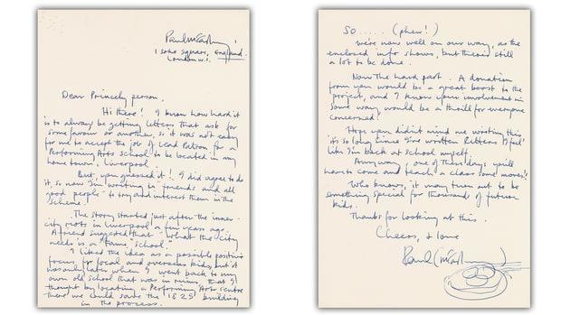 лист Пола Маккартні