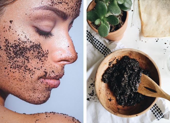 Маски для обличчя з кави