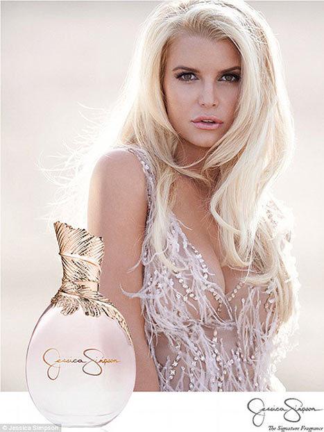 Джессика Симпсон в рекламной кампании собственного аромата