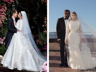 10 самых красивых свадебных платьев звёзд в истории