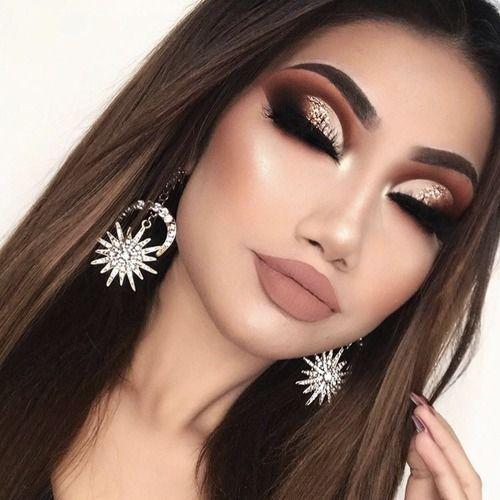 Модный макияж для карих глаз 2019 новые фото