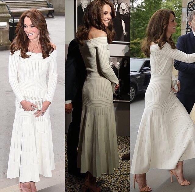 Як носити сукню з відкритими плечима: урок від Кейт Міддлтон