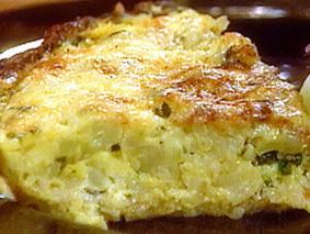 Пирог из цветной капусты на картофельной основе