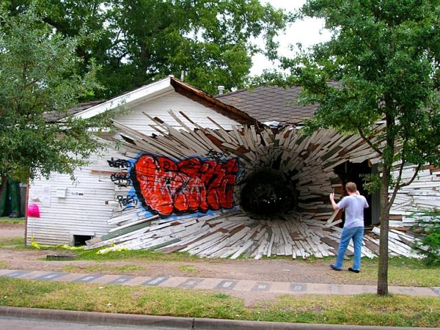 Самые необычные дома в мире: Дырка-дом, Штат Техас, США