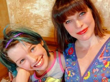 Мілла Йовович і її дочка Ева