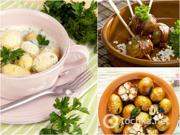 Рецепты с молодым картофелем