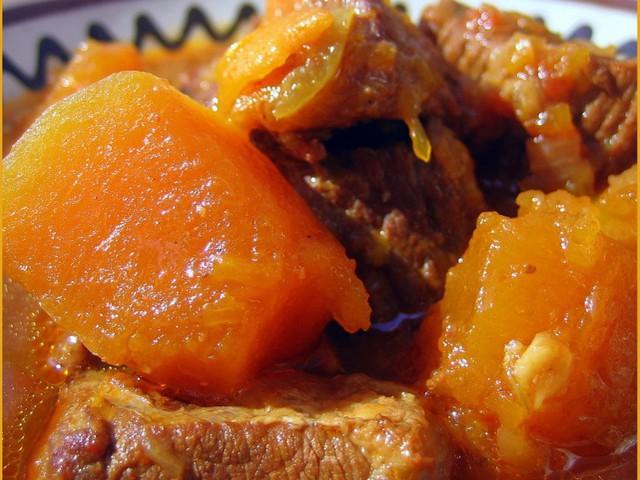 Говядина с тыквой рецепт с фото