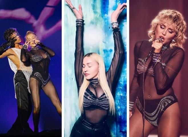 Тина Кароль, Мадонна и Майли Сайрус в одинаковом наряде