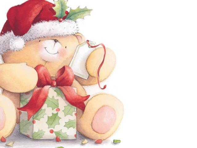 Открытки с Новым годом 2014 с мишкой