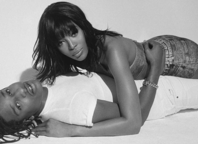 Наоми Кэмпбелл и Asap Rocky для Pop Magazine