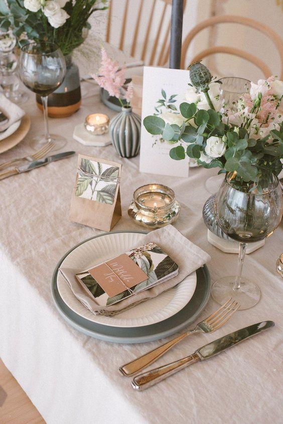 Свадебная сервировка стола: основные тренды 2021