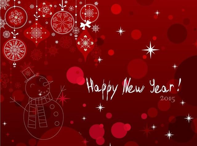 Прикольная открытка на Новый год 2015