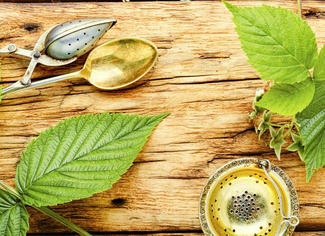 Чем полезен чай из листьев малины?