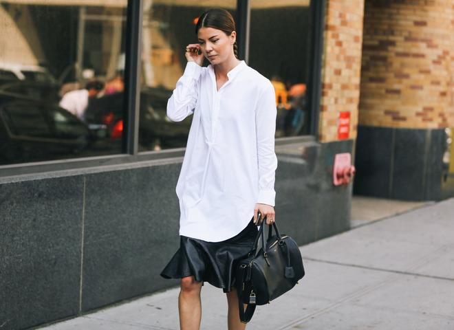 Як і з чим носити білу жіночу сорочку (фото)