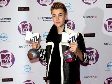 Джастин Бибер на MTV Europe Muic Awards