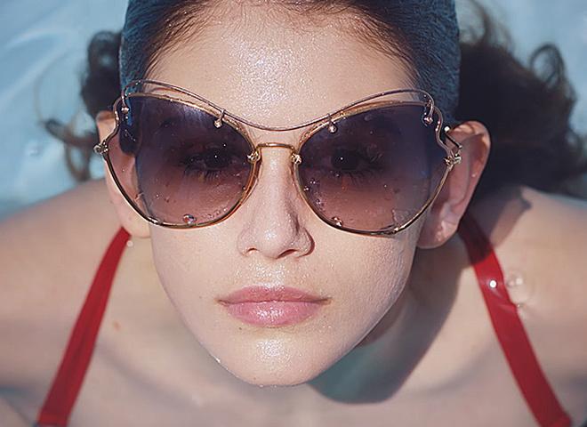Кайя Гербер в рекламі Miu Miu
