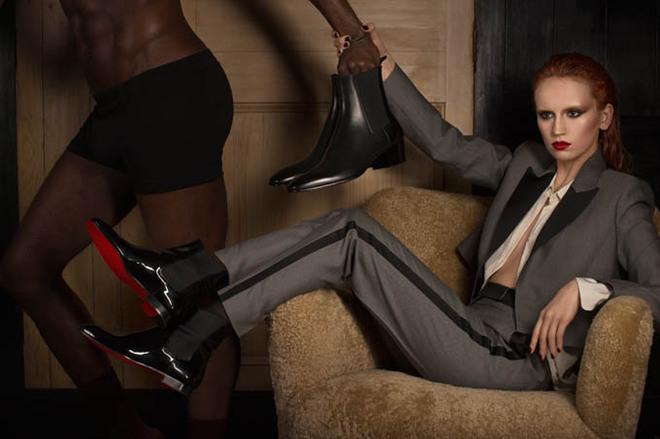 Мужня реклама жіночого взуття від Christian Louboutin
