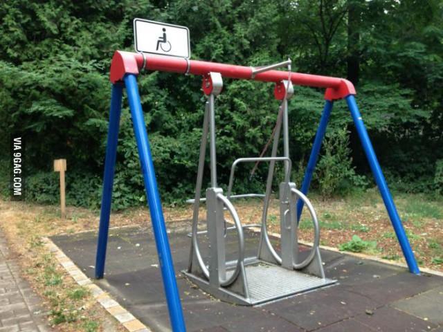 Качель для инвалидов в Германии