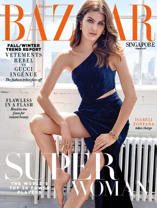 Изабели Фонтана в фотосессии для Harper`s Bazaar (август 2016)
