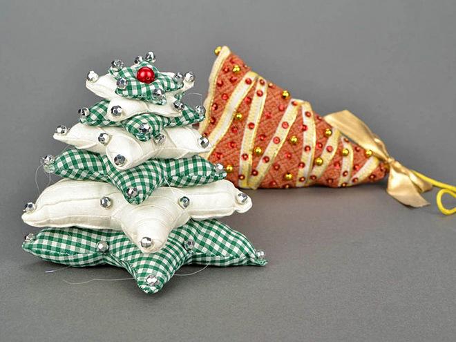 Игрушки своими руками из ткани на елку своими руками