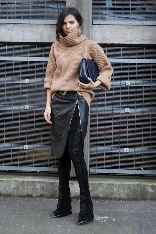 Неделя моды в Лондоне: ч/б street style