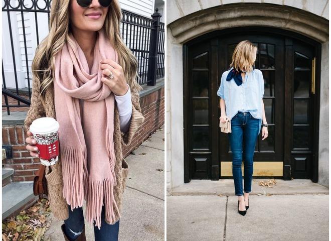 Як носити шарф навесні