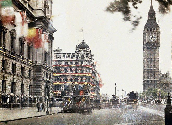 Лондон сто років тому: рідкісні кольорові фото англійської столиці