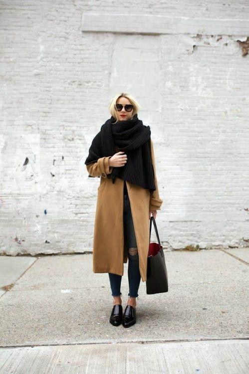Як носити шарф взимку