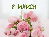 Нежные открытки на 8 Марта