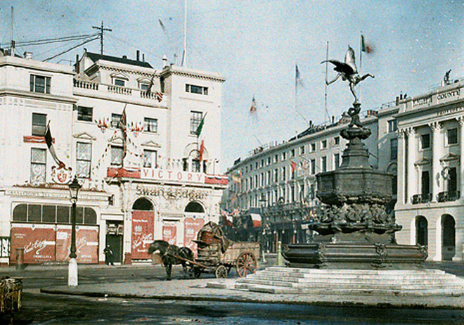 Лондон сто лет назад: редкие цветные фото английской столицы