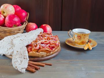 яблочная роза - постный рецепт выпечки