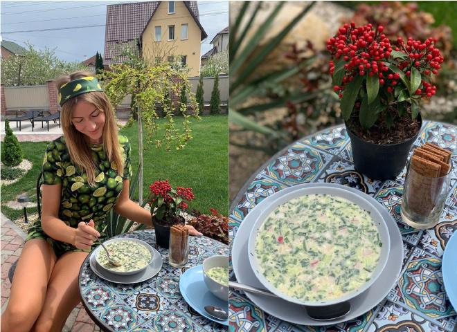 Рецепт окрошки от Леси Никитюк