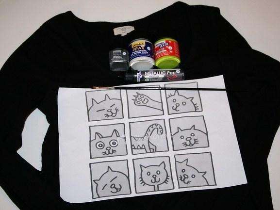 сделай футболку с принтом своими руками