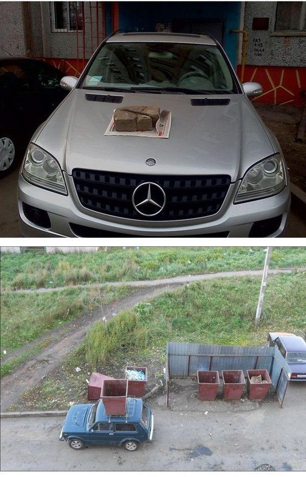 Штраф за неправильную парковку. Прикол