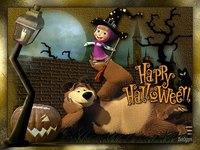 Маша и Медведь отмечают Хэллоуин