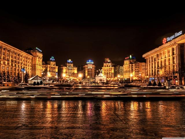 Вечерний Киев. Майдан HD