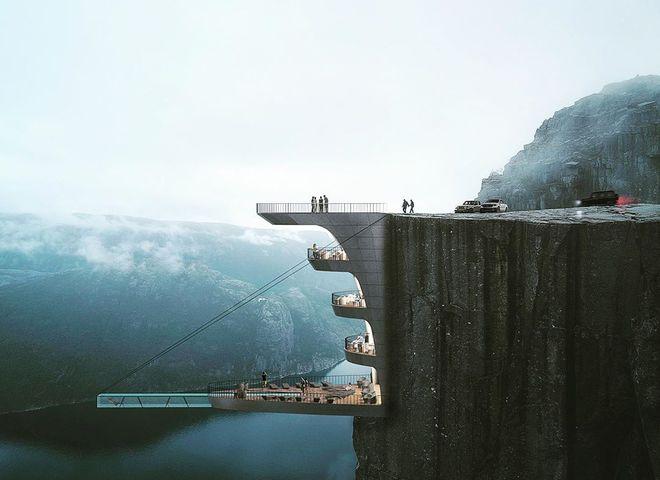 отель в скале Норвегия