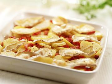 гратен из молодой картошки и бекона