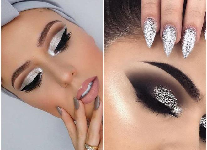 Металлический макияж