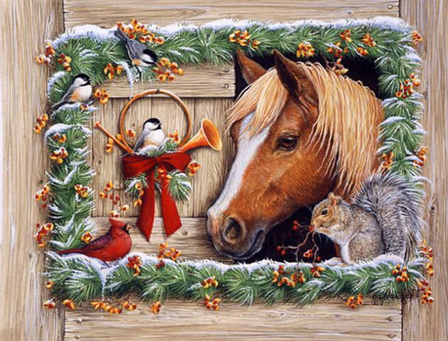 Картинки с Новым годом лошади 2014
