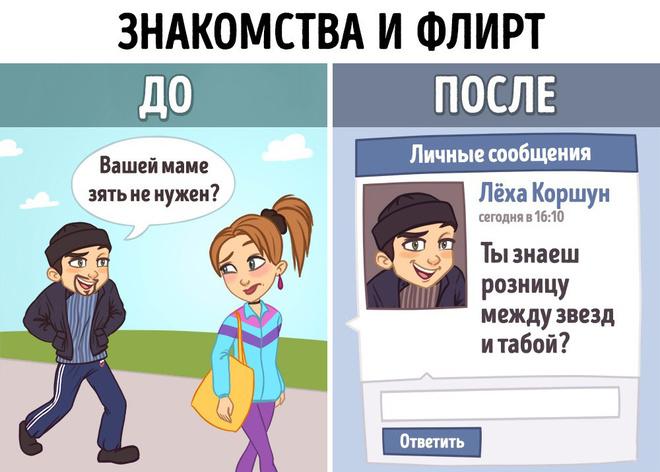 Жизнь до и с интернетом