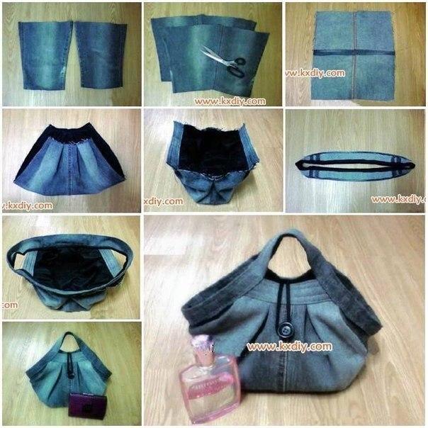 Модная сумочка из джинсов