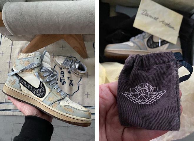 Кастомизированные кроссивки Dior x Nike Air Jordan 1