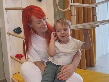 Світлана Тарабарова з сином Іваном