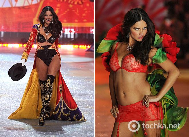 Адриана Лима на шоу Victoria's Secret