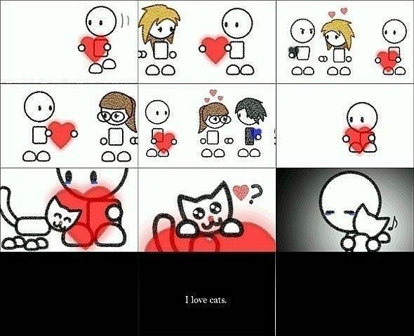 Комикс про любовь к котэ