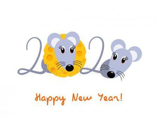 Привітання з Новим роком Білого Щура