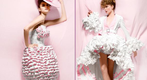 Экономим на гардеробе. Платья из картона и бумаги